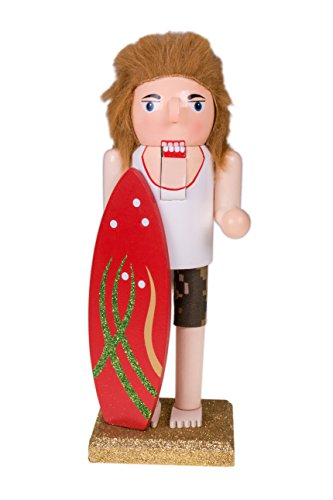 "Clever Creations Christmas Surfer Nutcracker | Red Surf Board | Festive Beach Surf Christmas Decor | Perfect for Any Collection | Perfect for Shelves and Tables | 100% Wood | 10"" Tall... from Clever Creations"