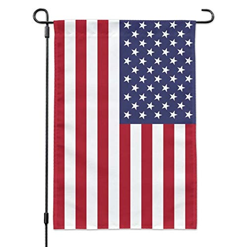 FW Free Walker Garden American Flag,12x18 Inch Vivid Color Vertical 3-Layer Nylon Stitched and Double Sided US Garden Stand Flag for Patio,Home,Yard,Outdoor ()