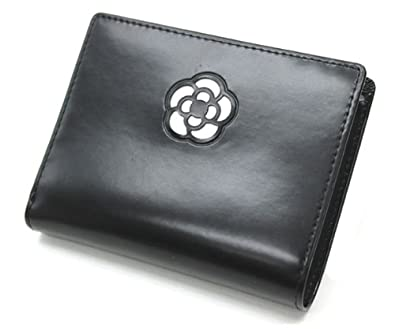 86defd3ac6aa Amazon | CLATHAS クレイサス 黒×白 カメリアショートウォレット 0040 二つ折り財布 | CLATHAS(クレイサス) | 財布