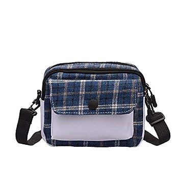 b1f50212b678 Amazon.com: Sentmoon Plaid Fashion Shoulder Bag Messenger Bag for ...