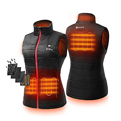ORORO Women's Lightweight Heated Vest with Battery Pack at Women's Coats Shop