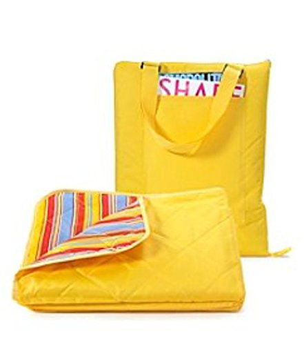 All Weather Yellow Travel Picnic Beach Oversized Blanket Zippered Tote (All Weather Travel Blanket)