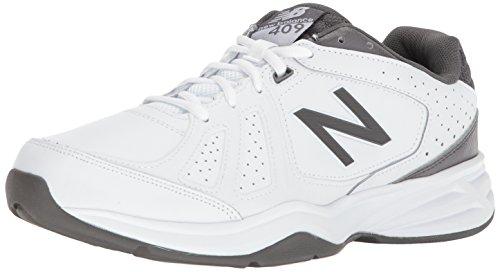 New Balance Men's mx409v3 Casual Comfort Training Shoe, White/Grey, 10 XW US