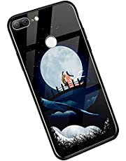 YSIMEE Compatible con Fundas Huawei Honor 9 Lite Carcasa Noche Luminoso Vidrio Templado con Encuadrar Silicona Suave TPU Ultra Fino Anti-Choque Anti-arañazos Delgado Noctilucent Case,Reunirse