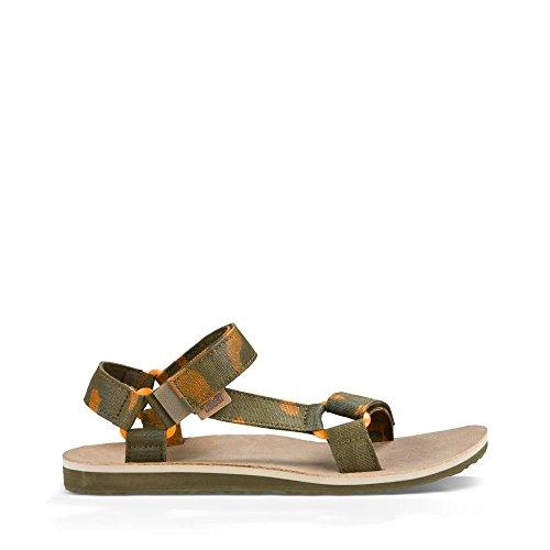 Teva Men's Original Universal Canvas Sandal, Dark Olive, 10 M US (Athletic Canvas Sandals)