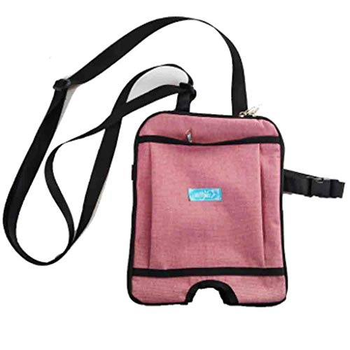 Hcwlxjy Urinary Catheter Bag Bladder Ostomy Elderly Drainage Bag Care Package Square Incontinence Kit with Adjustable Shoulder Strap for Home,Travel,Wheelchair,Bed,red,1000ml