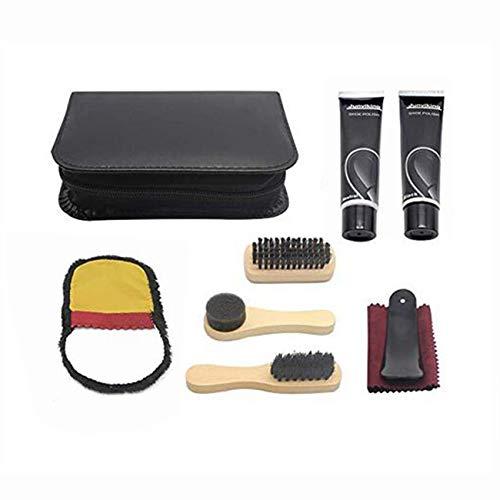LHKJ Kit d'entretien de la Chaussure, Kit d'entretien de Cuir Portable. Kit de Voyage pour Boîte de Cylindre en Cuir… 2