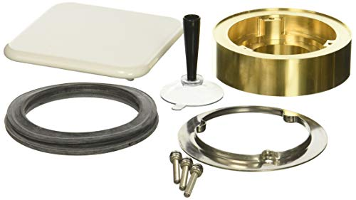 Kaldewei 4080 Conoduo Drain Adapter with Square Plate for Tub Center, White ()