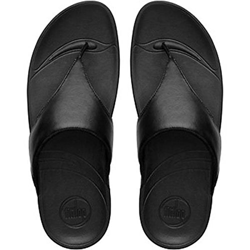 FitFlop Women's Lulu Thong Sandal,Black,5 M US ()