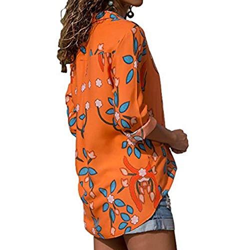 Femme Casual T Chemisier lgante Lache Ray Printemps Affaires Chic Rouge Manche Automne Shirt Bureau Dihope Chemise Longue Imprim Top Blouse 4dv6q4
