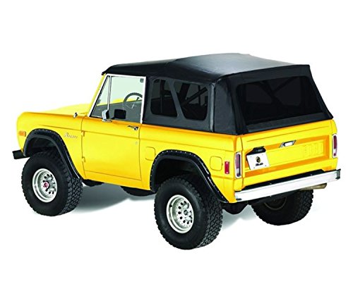 Bestop 51533-01 Black Crush Supertop Classic Replacement Soft Top with Tinted Windows; No Doors Included for 1966-1977 Ford Bronco