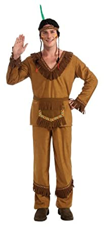 Amazon.com Rubieu0026#39;s Costume Menu0026#39;s Native American Costume Brown One Size Clothing
