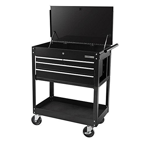 OLYMPIA 26 in. 4-Drawer Roller Cabinet Tool Chest, Black by OlympiaTool
