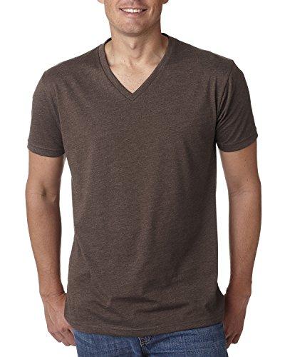 Next Level Men's CVC Combed Baby Rib-Knit V-Neck T-Shirt, Espresso, X-Large (Cvc V-neck Tee)