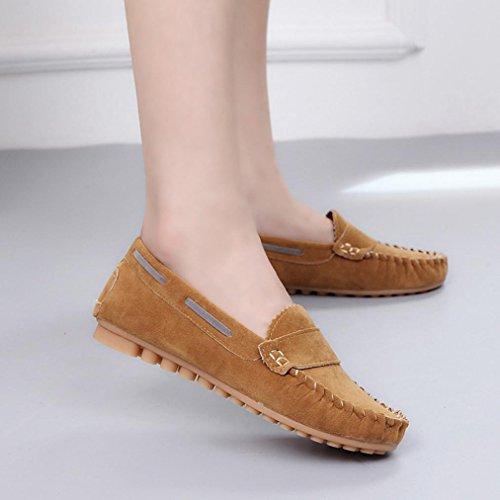 Zapatos interiores, Amlaiworld Slip On Zapatos de Confort Zapatos planos Zuecos Café