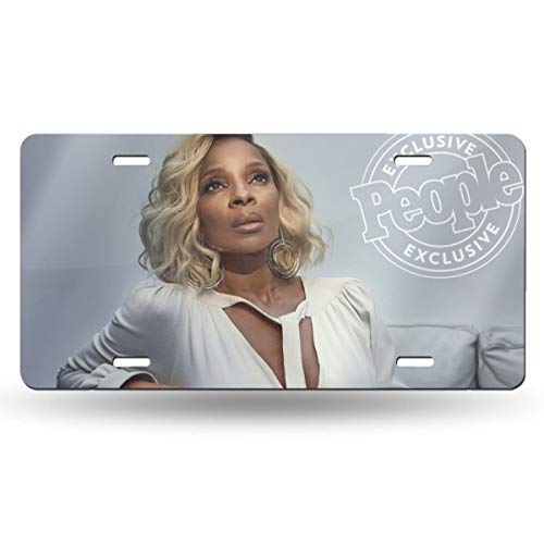 DOULADOU Mary J Blige Personalized Aluminum Metal License Plate Car Tag Novelty Home Decoration 6