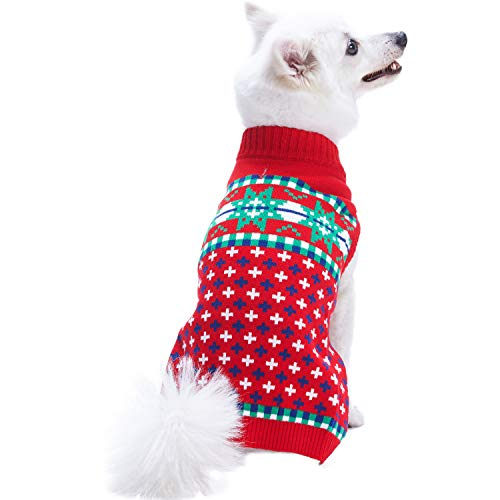 - Blueberry Pet 2018/2019 New for Love of Holiday - Christmas Designer Dog Sweater, Back Length 8