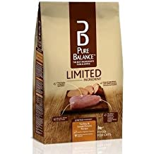 Pure Balance Limited Ingredient 12 Lbs Bag Turkey & Sweet Potato Cat Food, Super Premium Recipes Contains No Corn, Wheat or Soy, 1st Ingredient Is Real Turkey, Build Lean Muscle Mass to Run/Jump/Play