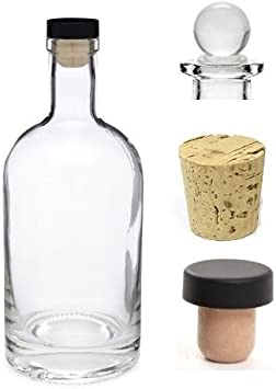 Empty Wine Bottle 0,75 Liter Bottle 750 ML plastic corks pendant funnel