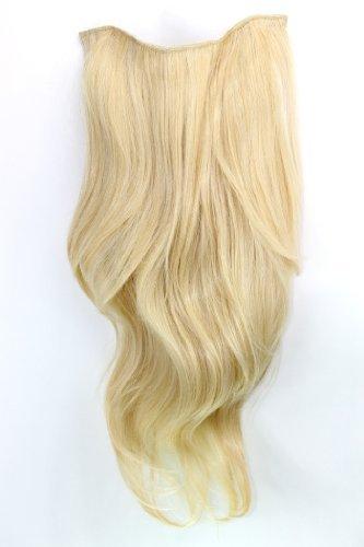 Clip-in Haarteil mit 7 Klammern, 3/4 Perücke Blond 60 cm H9505-611 Haarverlängerung Wig