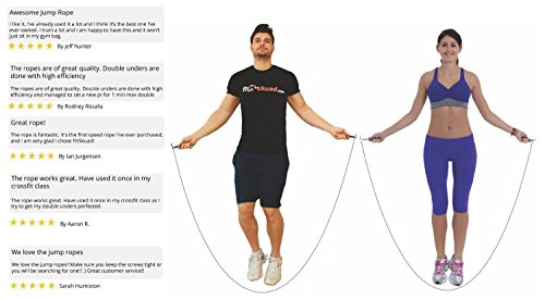 Jump Rope Ideal for Taking Your Workout to the Next Level - Features Ball-bearing System and 6 Inch, Extra-Long Handles That Foster Extreme Speed Jumping - Comes With a Carrying Bag, Rapid Results Manual Ebook 4