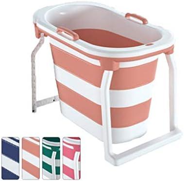 折りたたみ式バスタブ家庭用全身バスタブシンプルな折りたたみ式バスタブ便利な垂直型屋内バスタブ子供用大人用断熱バスタブ 浴室用設備 (Color : Orange, Size : 103*65*76.5cm)