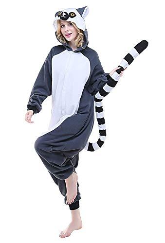 Women's Sleepwear Halloween Pajamas Onepiece Onesie Cosplay Costumes Kigurumi Animal Christmas (XL -for Height 175-183CM,Long Tail Monkey)