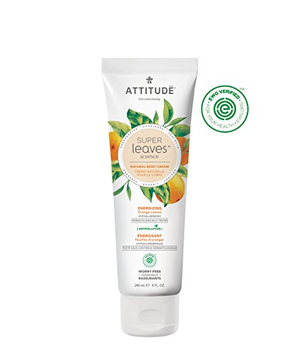 Natural Energizing Body Cream: EWG Verified, Hypoallergenic & Dermatologist Tested - Super leaves Collection (16 - Energizing Lotion Body