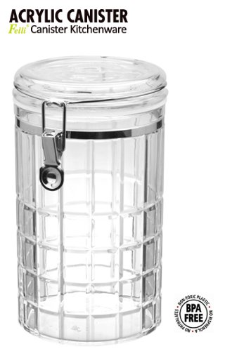 Felli round airtight canister with locking clamp. 5