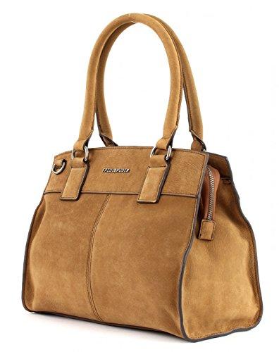 FredsBruder Velvet Boxy Handtasche brown_cognac x