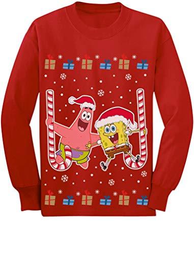 Patrick and Spongebob Ugly Christmas Apparel Toddler/Kids Long