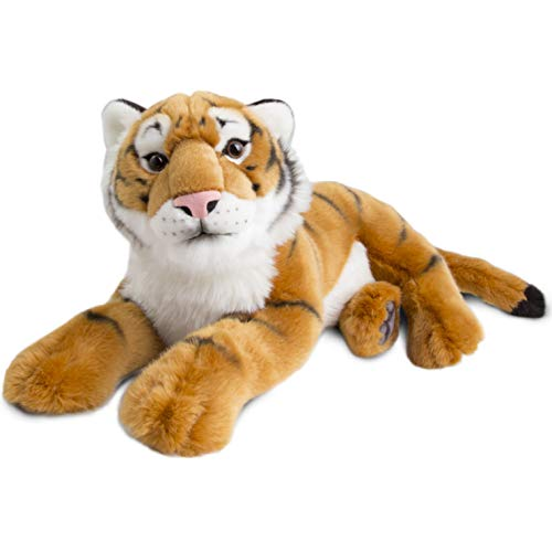FAO Schwarz Tiger Cub Toy Plush 12 Inches, Ultra Soft and Snuggly Doll for Educational, Creative, and Imagination Play, for Boys, Girls, & Children Ages 3 and Up, Nature Theme Playroom & Nursery Bengal Tiger Stuffed Animal