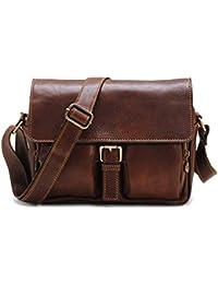 Leather Camera Bag Satchel Messenger Bag - Brown Novella Field Bag