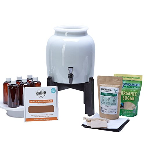 Makes Kombucha Tea On Tap. Continuous Kombucha Home Brew Kit Makes 127 Bottles Of Great Tasting Kombucha Tea Right From Home Every 28 Days! Everything You Need To Get Brewing. 180 Day Guarantee. by Get Kombucha