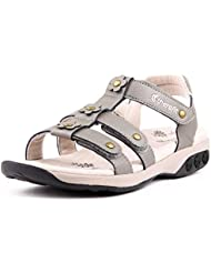 Therafit Claire Womens Leather Gladiator Adjustable Sandal - for Plantar Fasciitis/Foot Pain