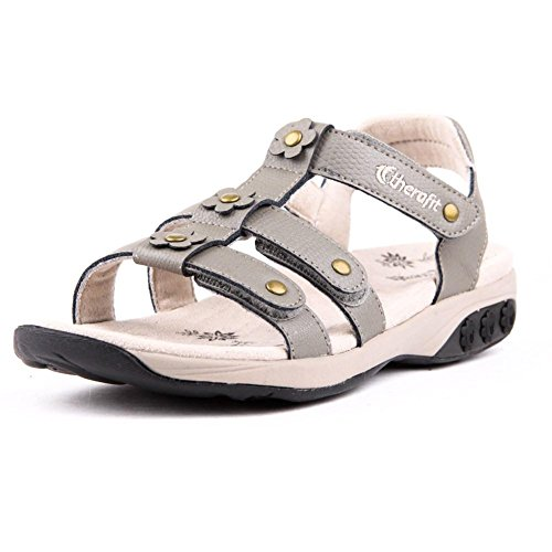 Therafit Claire Women's Leather Gladiator Adjustable Sandal - For Plantar Fasciitis/Foot Pain Silver under $60 cheap sale footlocker pictures for sale 2014 2opH5l