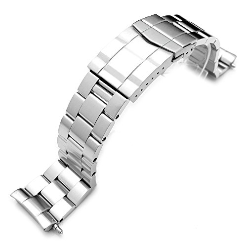 22mm Stainless Steel Super Oyster for Seiko Diver 6309-7040, Submariner ()