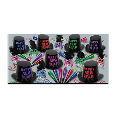 Beistle 88839-50 50-Piece Assorted Midnight Party Favors, Multicolor by Beistle