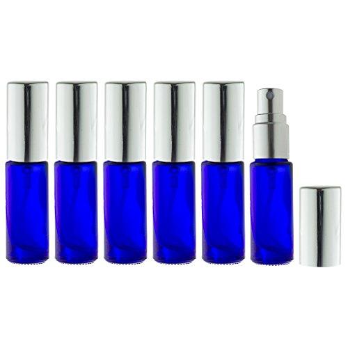 Aromatherapy Small Glass Spray Bottles, 5 ml (1/6 oz) Co...