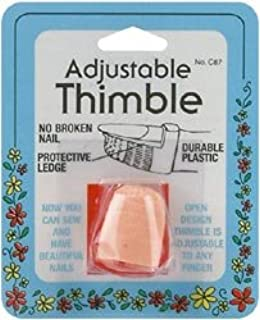 Image result for pink plastic adjustable thimble