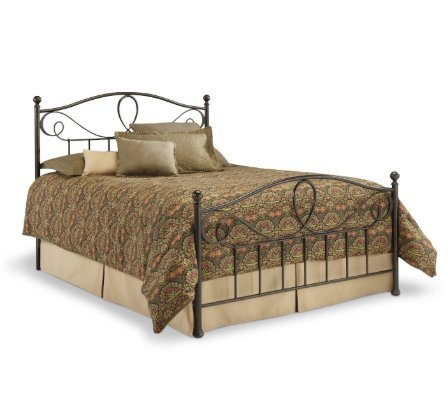 SKB family Queen size Metal Bed Frame with Headboard and Foo