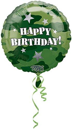 Anagram International Hx Camouflage Birthday Foil Balloon, -