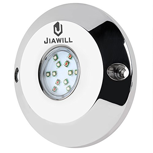 Jiawill 60W RGB CREE LED Underwater boat light,Surface Mount,Musical Control,Overheat Protection review