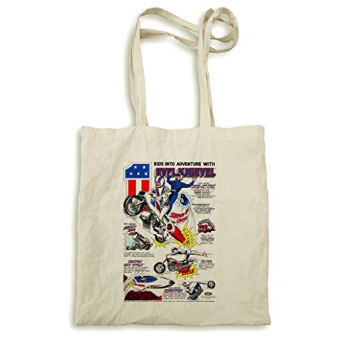 Encadrée Pyramid Naturel International Sac Knievel tout Super Fourre Jet Impression Evel Cycle 88UqE