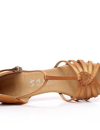 Latin Black Salsa Flocking Non Shangyi Flared Heel Shoes Women's Dance Customizable Satin XPqH6