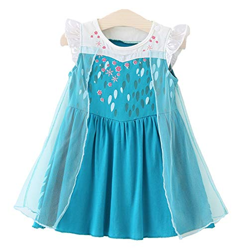 Little Girls Snowflake Princess Dress Halloween Costumes