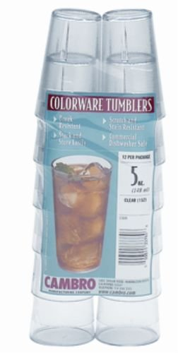 Cambro 500PSW12152 Colorware Tumbler, 5-Ounce, Pack of 12