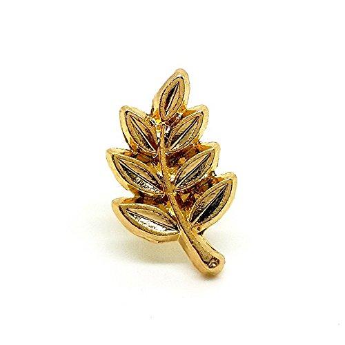 BOBIJOO Jewelry - Pins Branche d'Acacia Masonic Boutonnière Franc-Maçon Pin's Doré à l'Or Fin
