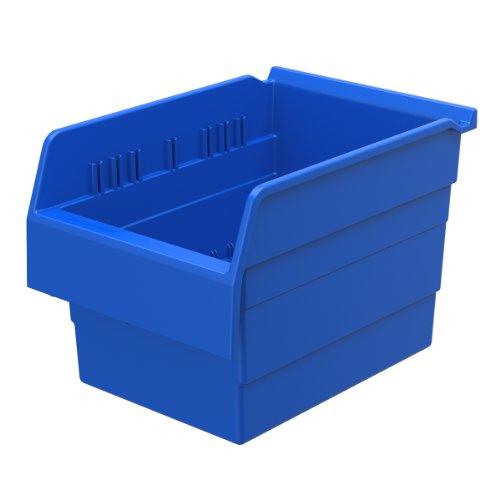 Akro-Mils 30880 ShelfMax 8 Plastic Nesting Shelf Bin Box, 12-Inch x 8-Inch x 8-Inch, Blue, (Akro Mills Container)
