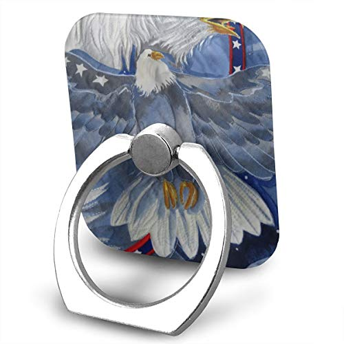 (Cell Phone Finger Ring Stand Patriotic Bald Eagles 360°Rotation Suitable for Most Smartphone)
